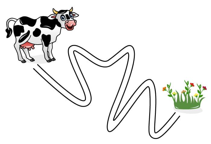 """Игра """"Приведи корову к травке"""""""
