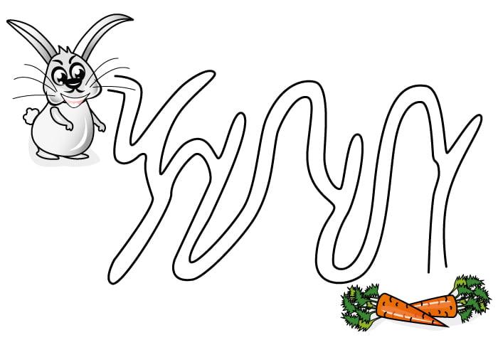 "Игра ""Помоги зайцу найти морковку"""