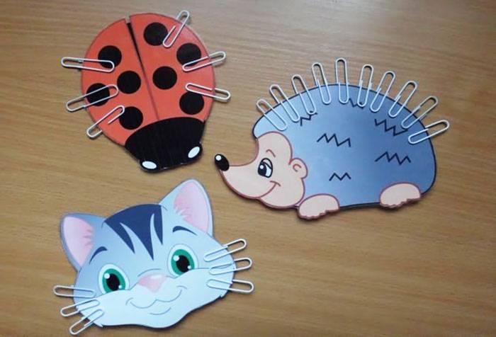 Фигурки животных с применением скрепок