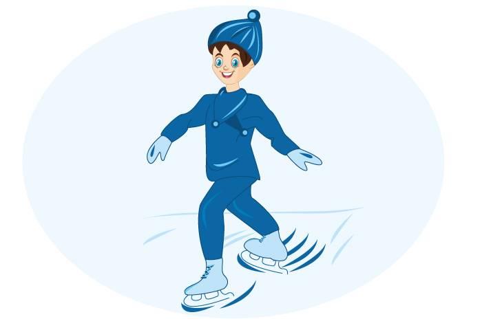 Торможение на коньках одной ногой назад