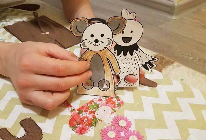 Пальчиковые куклы из бумаги