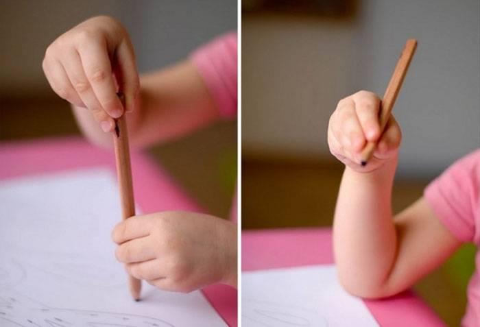 Упражнение для формирования правильного захвата карандаша