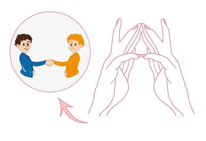 """Упражнение """"Пальчики здороваются"""""""