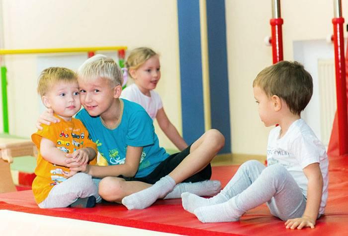Дети в спортивном зале