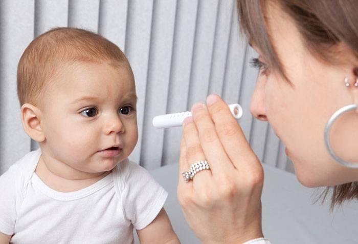 Малыш у офтальмолога