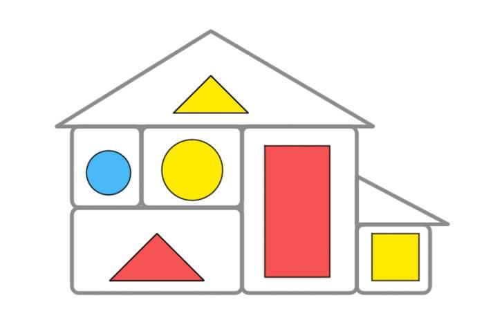 Схема «Заселяем в домик» к блокам Дьенеша