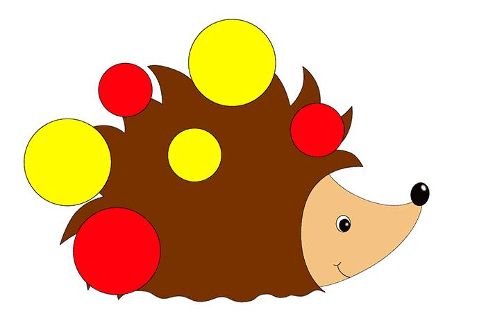 Схема к блокам Дьенеша - ежик с яблоками
