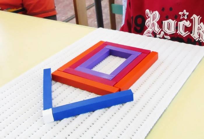 Составление квадрата из палочек Кюизенера