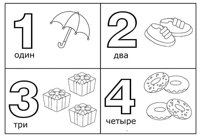 Карточки с цифрами для детей
