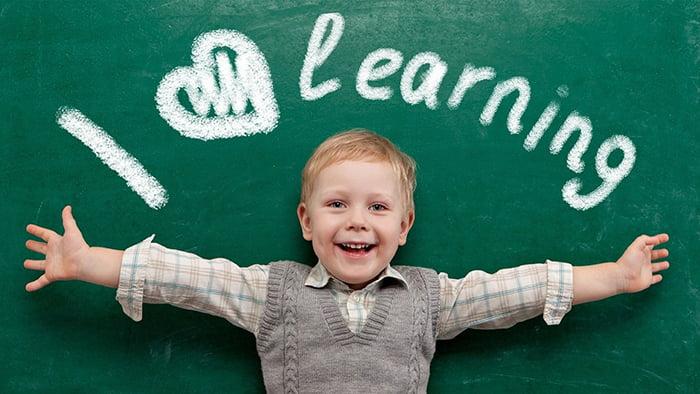 Ребенку нравится изучать английский