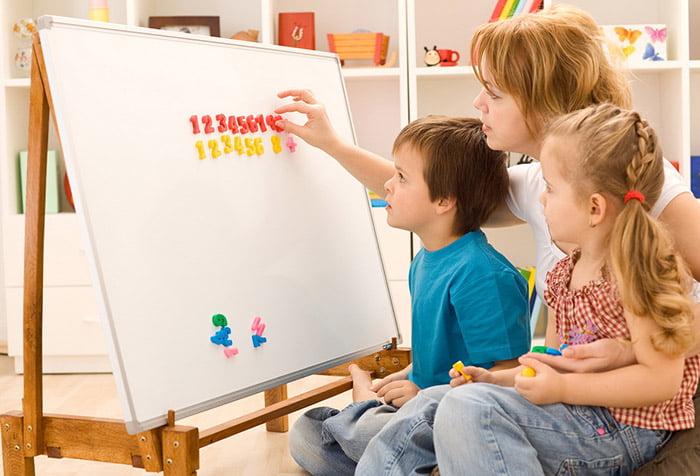 Дети запоминают цифры
