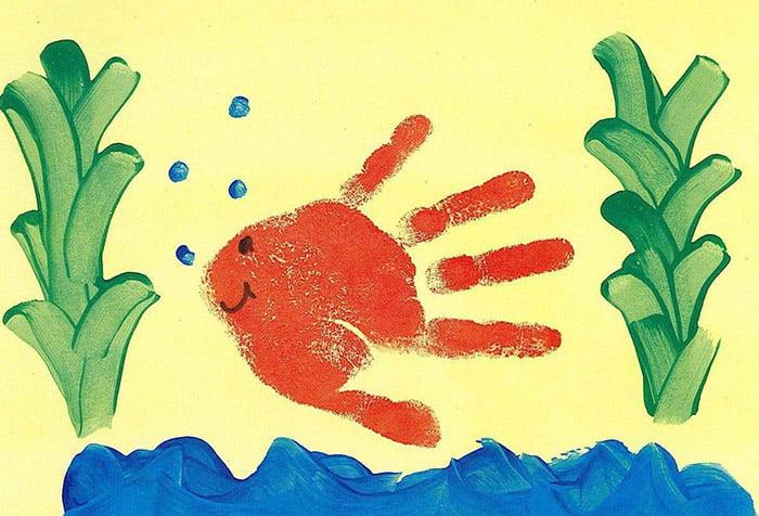Рисунок ладошкой и пальцами