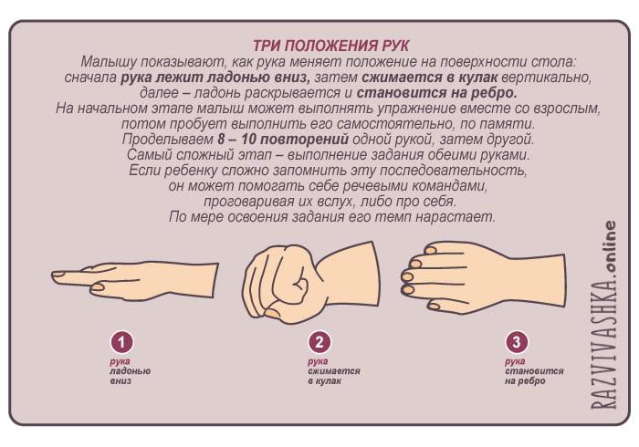 """Упражнение """"Три положения рук"""""""