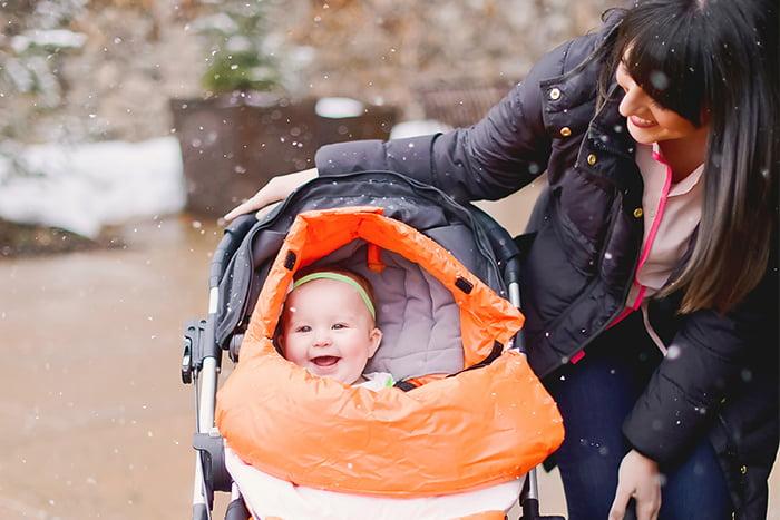 Прогулка с семимесячным малышом