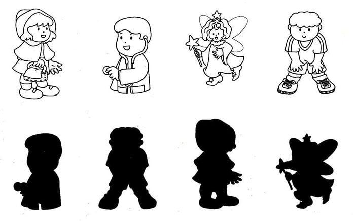 Задание - соотнести персонажа и его тень