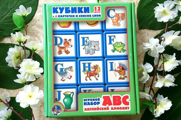 Кубики и карточки для изучения английского