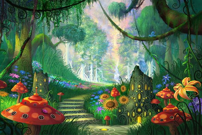 """Рисунок """"Волшебный лес"""""""