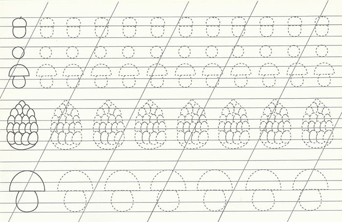 Контурное задание для подготовки руки к письму