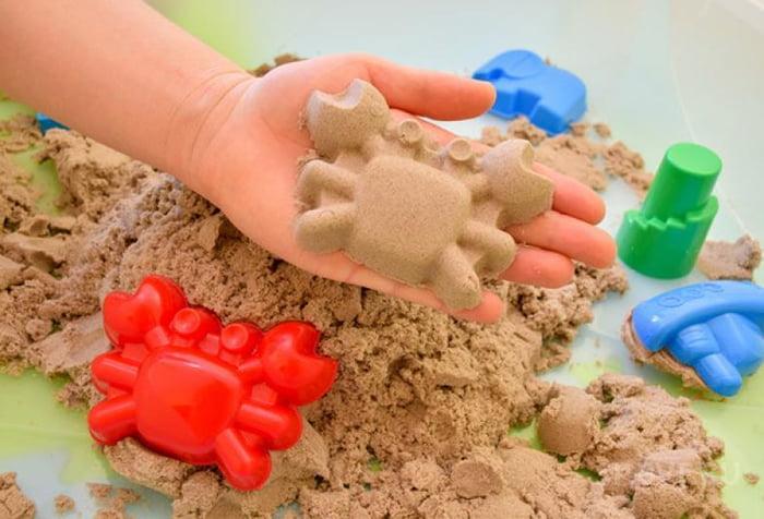 Крабик из кинетического песка