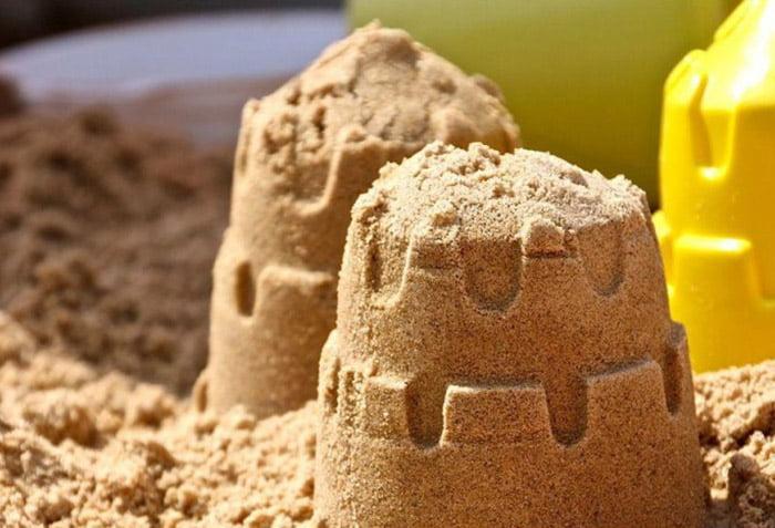 Башенки из песка