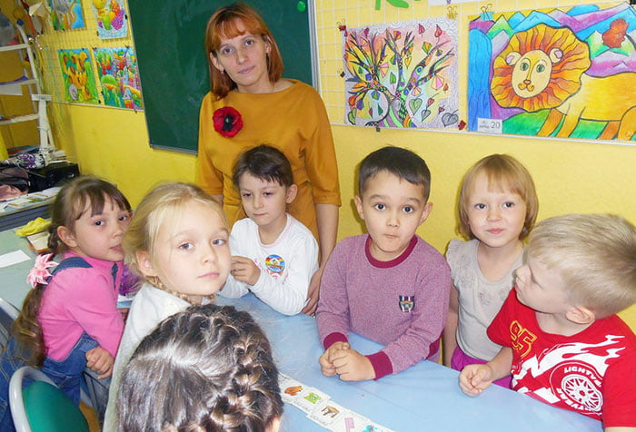Групповое занятие с детьми с использованием мнемодорожки