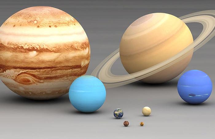 Соотношение размеров планет