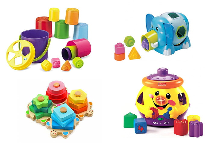 Разные виды сортеров для малышей