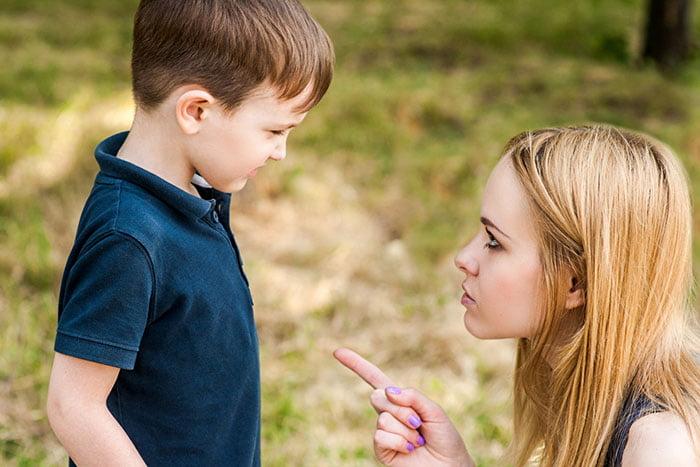 Мама запрещает что-то ребенку