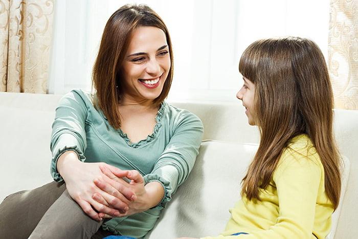 Общение дочки с мамой