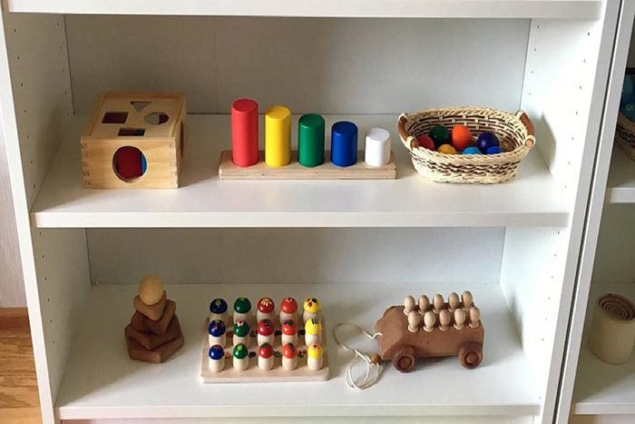Деревянные игрушки по принципам Монтессори