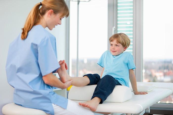 Массаж ног ребенку