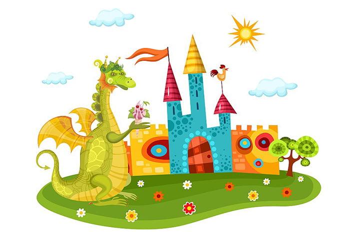 Иллюстрация к сказке про дракона