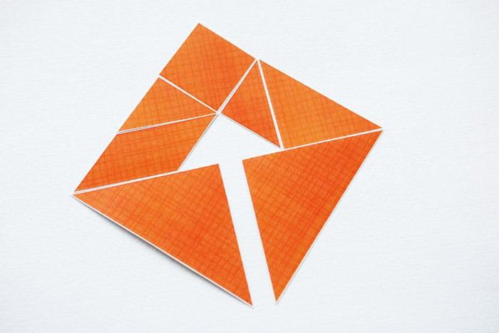 Оригинально сложенный танграм