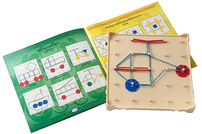 Математический планшет со схемами для детей