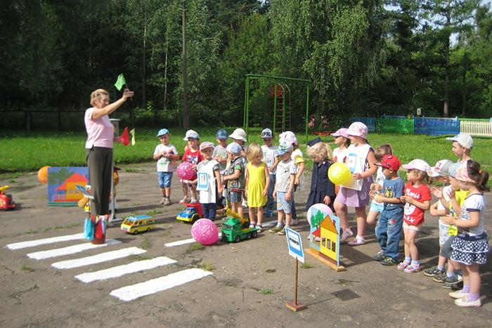Занятие по ПДД в детском саду