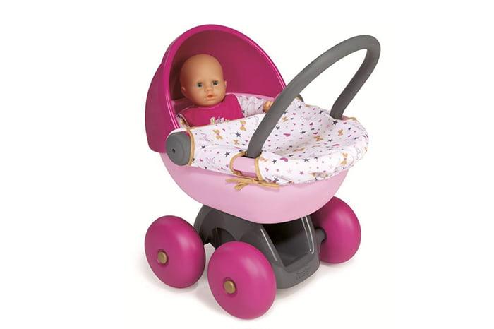 Игрушечная коляска с куклой