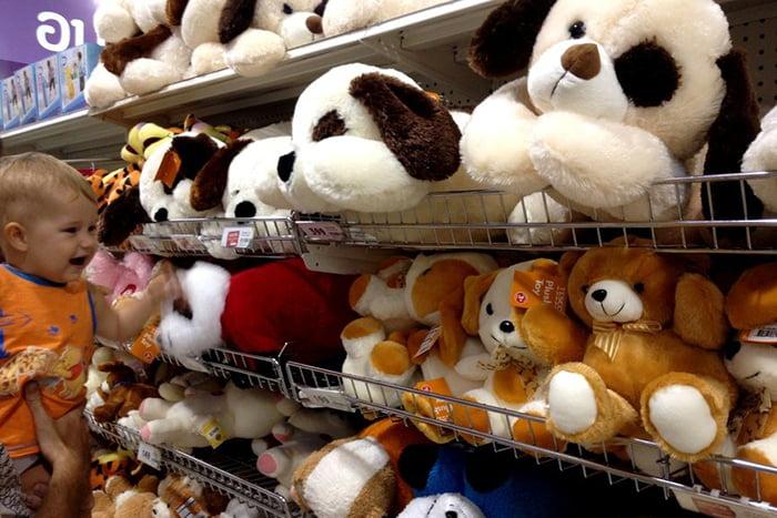 Ассортимент мягких игрушек