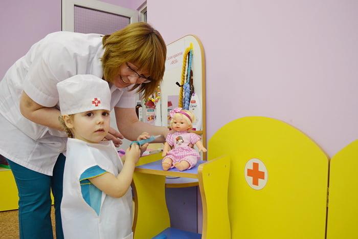 """Игра """"Больница"""" в детском саду"""