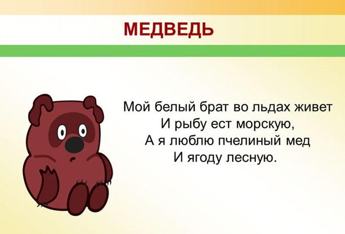 Детская загадка про медведя