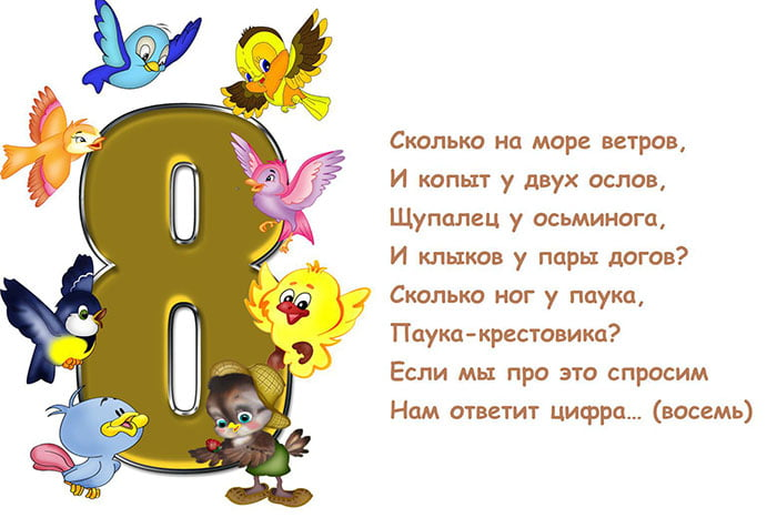 Детская загадка про цифру 8