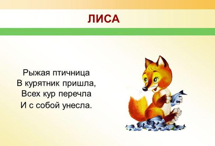 Детская загадка про лису
