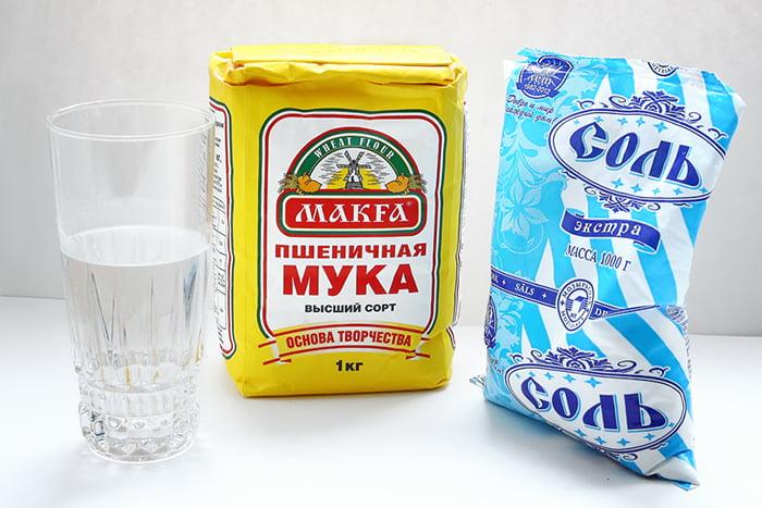 Ингредиенты для соленого теста