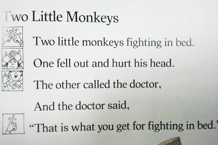 Пальчиковая игра Two little monkeys
