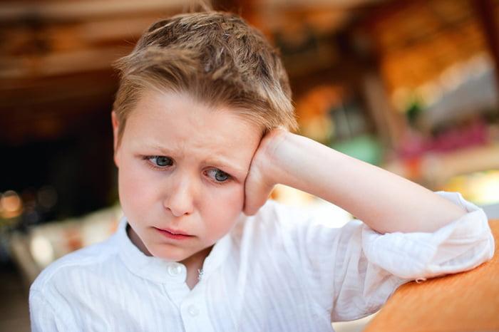Мальчик расстроен