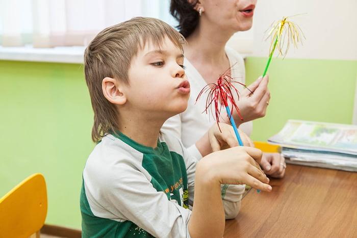 Упражнение на развитие речевого дыхания у ребенка