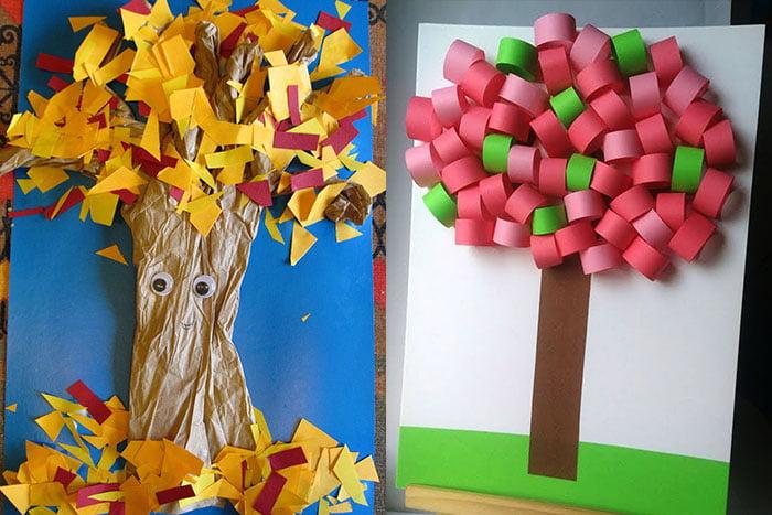 Аппликация - дерево с объемной кроной