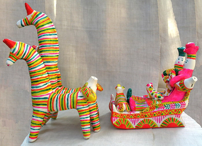 Филимоновские игрушки - упряжка