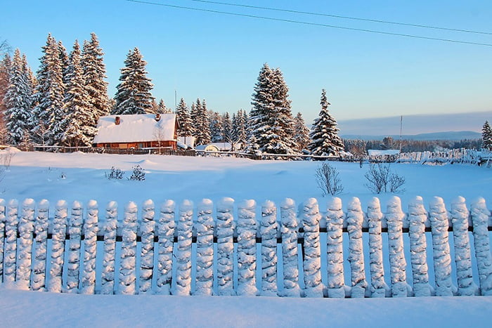 Зима в деревне