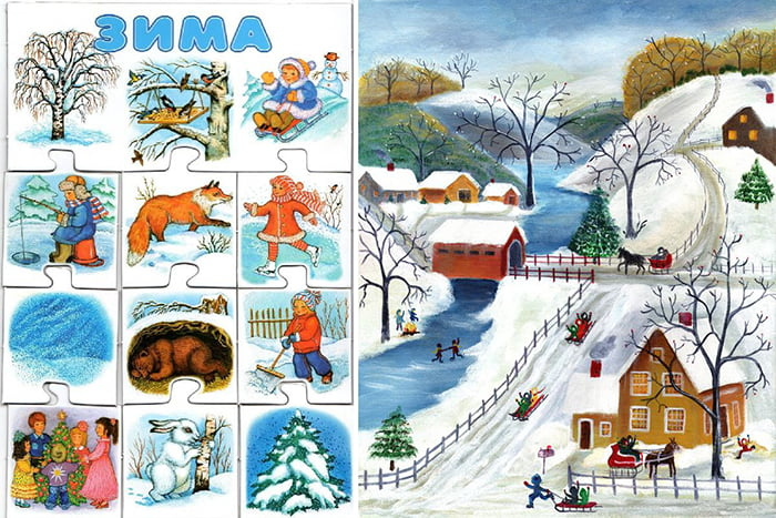 Картинки на тему зимы для детей