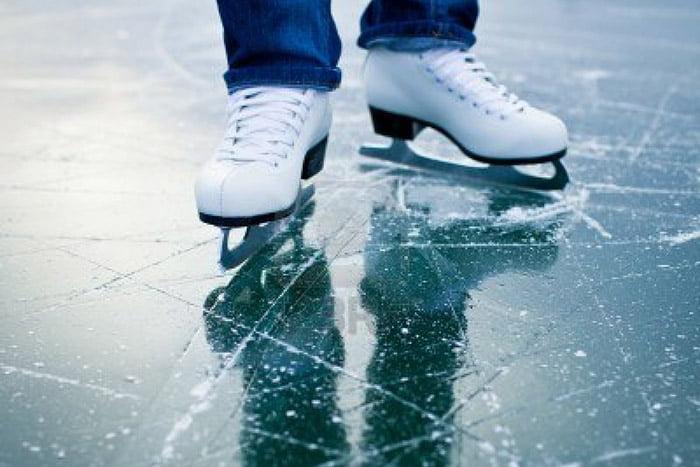 Катание на коньках по льду